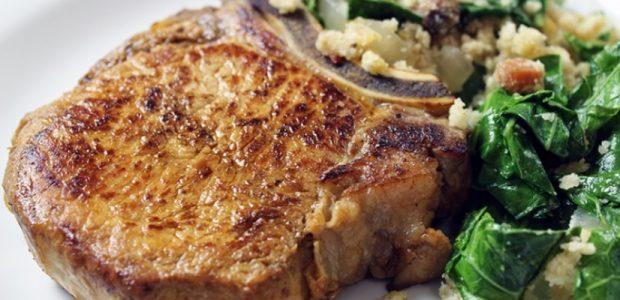 Bisteca de Porco Grelhada