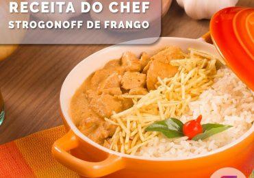 Receita especial de Strogonoff de Frango do Chef Luiz Borb